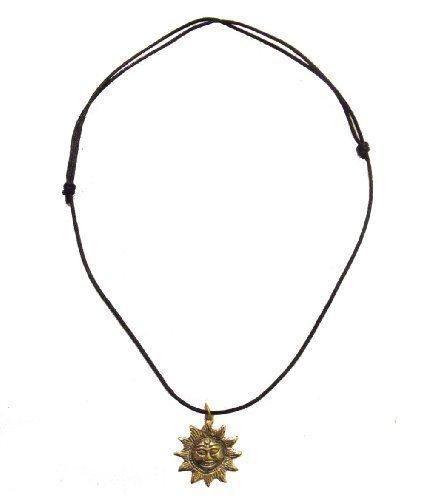 Hand Cast Bronze so Halskette auf verstellbaren gewachsten Baumwollkordel . Handgemachte in Kathmandu, Nepal - fairtrade - so misst 3 cm Durchmesser -