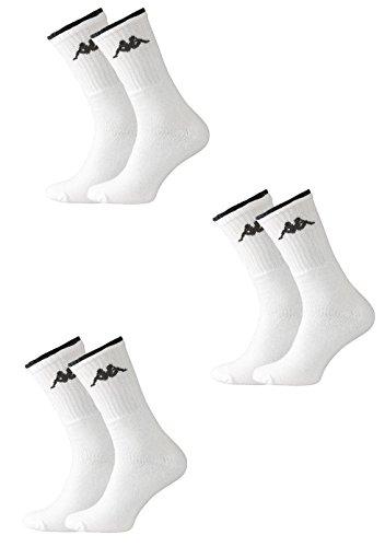 3-calzini-unisex-corti-kappa-spugna-tennis-35-38-bianco