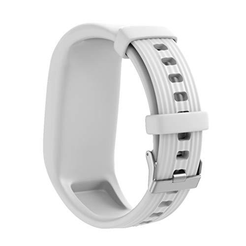 CUEYU Armband Kompatibel Für Garmin Vivofit 3 Vivofit JR Vivofit JR 2,Silikon Replacement Uhrenarmband Sportarmband Band Erstatzband mit Metallschließe (Weiß) - Uhrenarmbänder Weiß
