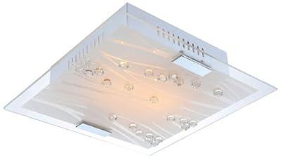 Top Badezimmer Bad Deckenlampe Deckenleuchte Leuchte Lampe Kristall Glas Spiegel Globo 40406-2 von Globo - Lampenhans.de