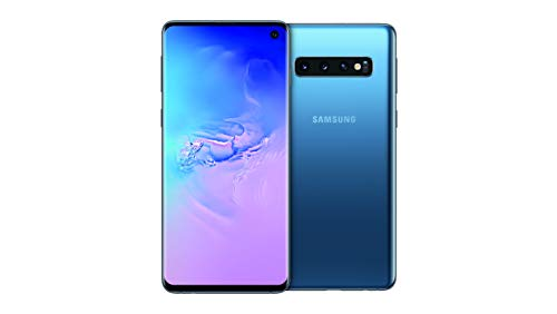 Samsung Galaxy S10 Smartphone, 128GB, Display 6.1', Dual SIM,  Blu (Prism Blue) [Versione UK]