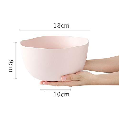 LIXUE Grand et profond bol de service en céramique pour la soupe salade nouilles pâtes céréales céréales bols de mélange ensembles 7 pouces (Color : Pink)