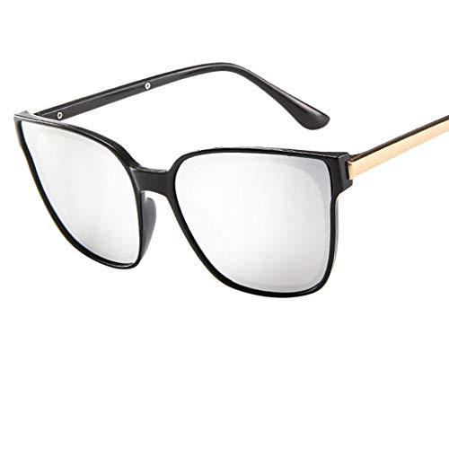 REALIKE Super Coole Damenbrillen Klassische Quadrat Rahmen Farben Verspiegelt Sonnenbrille Mode...