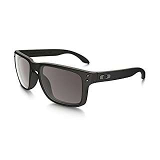 Oakley Herren Sonnenbrille Holbrook Matte Black/Warm Grey (S3) 55