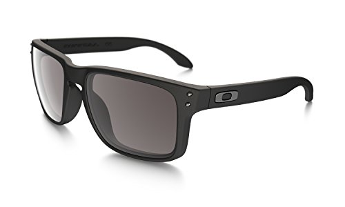 Oakley Herren Sonnenbrille Holbrook Matte Black/Warm Grey (S3), 55