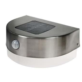 Lampe d'Entrée Inox - Solaire Détecteur de Mouvements Infrarouge - indiscount ®