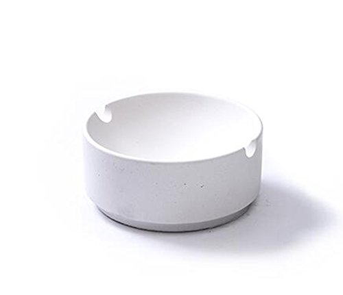 WXFC Klares Wasser Beton Dekoration hausgemachte Aschenbecher Zement Runde kreative Persönlichkeit täglichen Bedarfs, Weiß