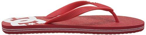 DC Shoes Herren Spray Zehentrenner Rot (Red/White)