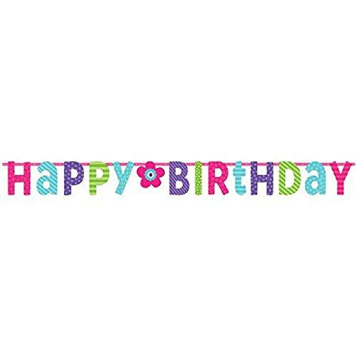 amscan Pancarta Gigante de Happy Birthday 20168 de 3,3m x 31cm