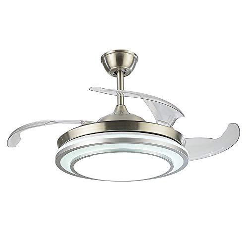 Etelux luz del ventilador de techo, Ventilador de Techo con luz, 107 cm de Diámetro, 65 W, 4 aspas...