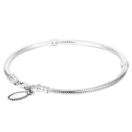 ilber Karabinerverschluss Schlangenkette Basis Pandora Armband Armreif Fit Damen ()