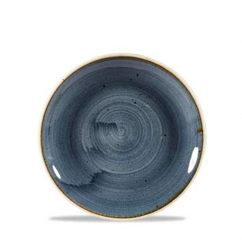 Churchill Stonecast -Coupe Plate Teller- Durchmesser: Ø16,5cm, Farbe wählbar (Blueberry) Blueberry Coupe