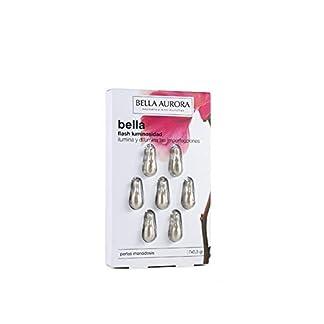 Bella Aurora Bella Flash Luminosidad Serum Anti-Manchas Facial para Mujer Protege y Repara la Piel de Imperfecciones Sin Parabenos Hipoalergénico No Comedogénico, 7 Monodosis