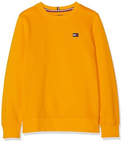 Tommy Hilfiger Jungen Tommy Flag Sweatshirt, Gelb (Radiant Yellow 720), 152 (Herstellergröße: 12) Kinder Sweatshirt Flag