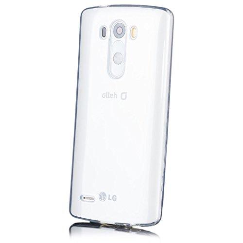 LG G3 | iCues Transparent TPU Case Klar | [Display Schutzfolie Inklusive] Transparent Klarsichthülle Durchsichtig Klare Klarsicht Silikon Gel Schutzhülle Hülle Cover Schutz
