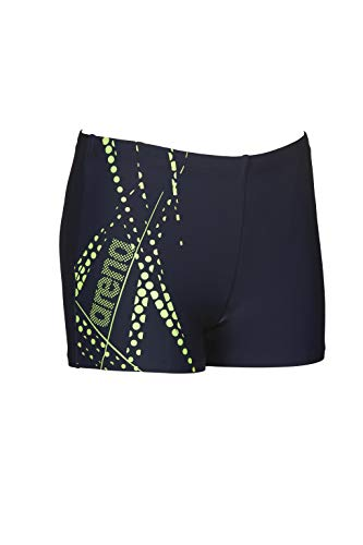 ARES5 Arena Jungen Badehose Burst, Navy-Shiny Green, 140
