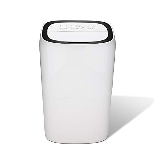 wolketon Luftentfeuchter bis zu 20L/Tag Raumentfeuchter Raumgröße bis zu 20~30 m² leiser Weiß Wäschetrocknung Bautrockner Entfeuchter für Schlafzimmer Büro Bad