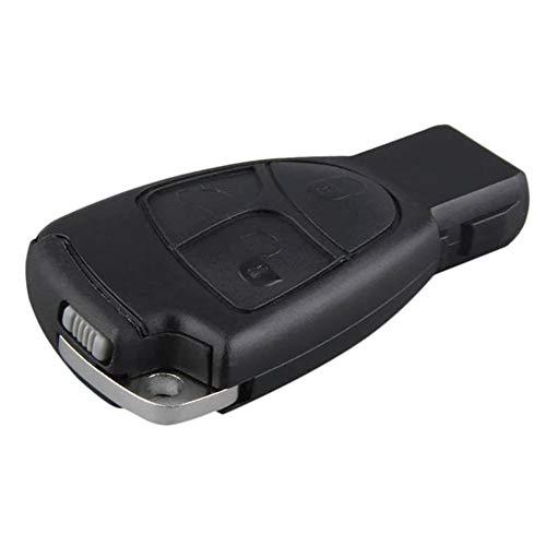 YSHtanj Funkschlüsselgehäuse Innendekoration Schlüsselhalter 3 Tasten Smart Remote Komplettiert Schlüsselgehäuse Fernbedienung für Mercedes Benz S E C -