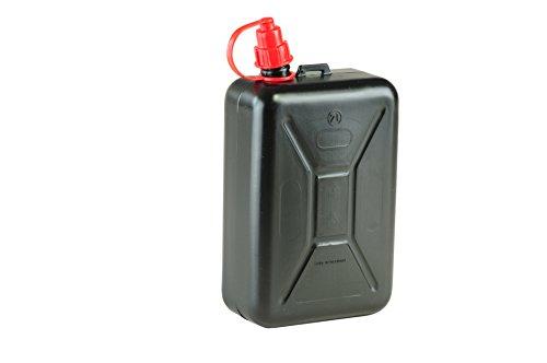 hünersdorff Keine Kraftstoff-Kanister Standard 2l, Ersatzkanister für Motorräder, integrierte Auslauftülle, HD-PE, Made in Germany, TÜV-geprüfter Produktion, schwarz, 2 l