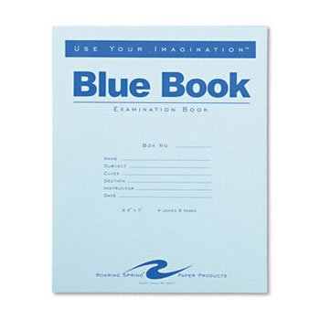 Roaring Spring® Untersuchungshandschuhe Blue Book Buch, Prüfung, 4sht, breit, werden (Pack OF100) -