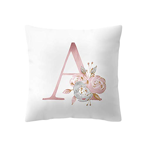 koperras Letter Print Cushion Cover 45cm x 45cm (18in x 18in),Decoration Brief Kissen Square Throw Pillowcases One Side -