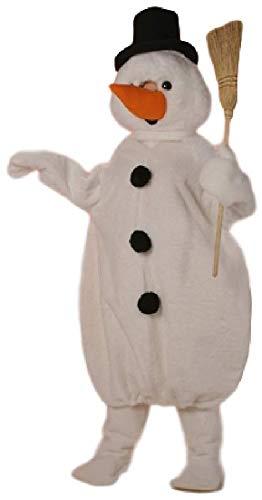 Mens Ladies Mascot Snowman Big Head Christmas Parade Celebration Xmas Festive Winter Fancy Dress Costume - Christmas Parade Kostüm
