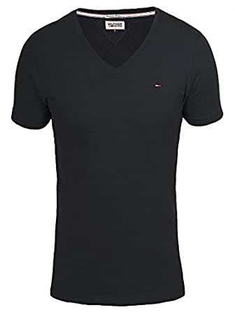 tommy hilfiger denim v ausschnitt herren t shirt amazon. Black Bedroom Furniture Sets. Home Design Ideas