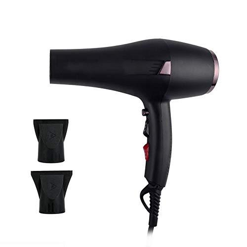 WMWZ Föhn Professional Ionic Fön 2400W Salon Fast Blow Trockner 3 Hitze 2 Geschwindigkeitseinstellungen Haar Diffusoren/Düse-Lange 2,7 M Schnur,Black
