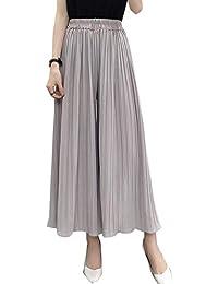 22e99b62f3 Pantalones Palazzo Informales De Cintura Alta Plisados Pierna Ancha  Pantalones De Tobillo De Mujer