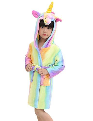 Abollria Albornoz Suave Niños Unicornio Ropa De Dormir
