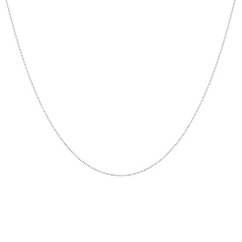 - 317Q9NYp0sL - Galaxy Jewellery Real Genuine 925 Sterling Silver 0.7mm Fine Delicate Curb Necklace Chain 18″ 45cm
