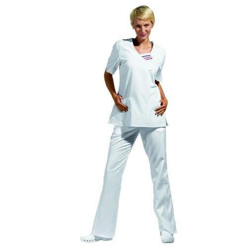 LEIBER Schlupf-Jacke halbarm - 190 g/m² - weiß - Größe: M