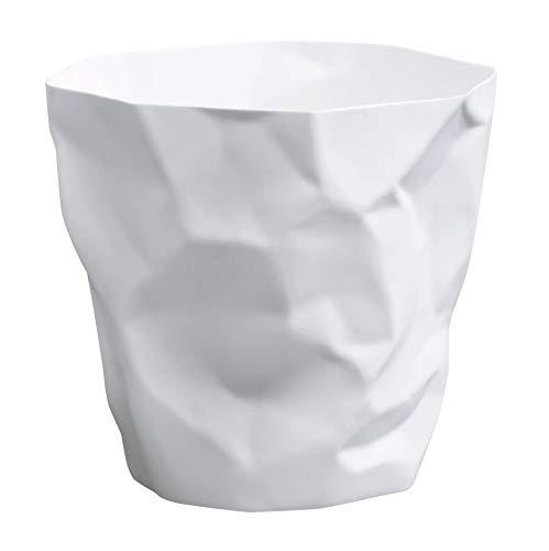 Essey 10490 Papierkorb Mülleimer Bin Bin, weiß, Polyethylen HD (HDPE), Classic (Groß-papierkorb)