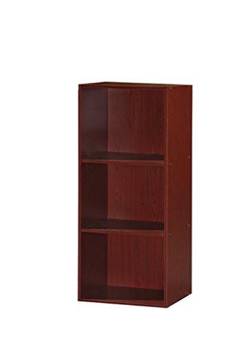 HODEDAH IMPORT HID23 Bücherregal, 3 Regalböden Modern Mahagoni