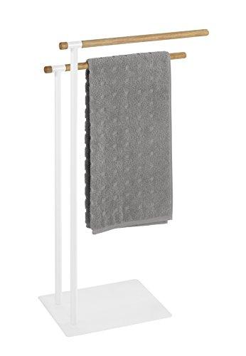 Wenko 22510100 Porte-Serviettes Macao, Acier Inoxydable, Blanc, 25 x 4 x 79 cm