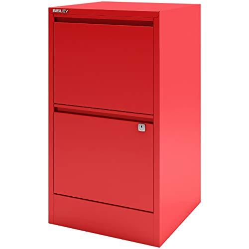 Kardinäle Home-office (B-UK Home Office Hängeregistraturschrank mit Griffleiste 2 Schubladen einbahnig - abschließbar in Kardinal rot)