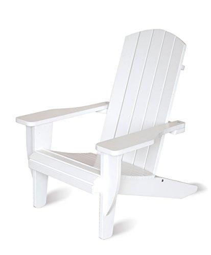 Ambientehome Stuhl, Adirondack Chair Ottawa Liegestuhl Massivholz, weiß, 90x81x99 cm, 90777