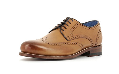 Gordon & Bros Herrenschuhe Levet 5428 Klassischer rahmengenähter Schnürhalbschuh mit Oxford Schnürung im Brogue Stil für Anzug, Business und Freizeit Braun (Torino tan Leather), EU 43