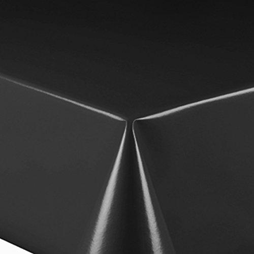 Lackfolie Breite 90 cm Länge wählbar - Schwarz ca. 0,15 mm Stärke Lebensmittelecht - 90 x 200 bzw. 200x90 cm abwaschbare Tischdecke Wachstuch Gartentischdecke