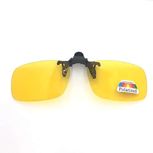 Zheino Polarized Clip-on Sunglasses Sonnenbrille Clip Sonnenbrille Aufsatz Polarisationsbrille Clip Anti-Glare UV400 für Frauen und Männer Gelb