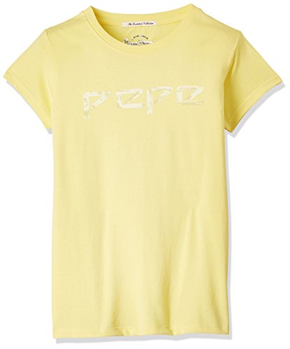 Pepe Jeans Girls' T-Shirt (CERINA K SS_Yellow_6)  available at amazon for Rs.249