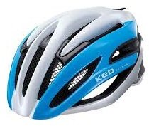 KED Fahrradhelm Wayron , Größe L, Kopfumfang 57-61 cm, Blue White, extrem gute Belüftung, geringes Gewicht, perfekte Passform, sportiv-hochwertiger Look and Feel - Made in Germany