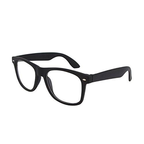 SHVAS UV Protection Unisex Wayfarer clear lens Sunglasses - Black...