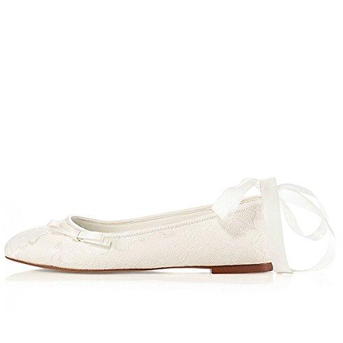 Lottie par G westerleigh dentelle vintage Ivoire Mariage ou occasion Plat Chaussures Ivoire