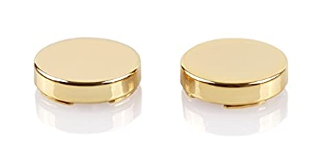 Gold Mini Button Covers - 15mm / 0.6 inch x 2 (Cufflinks for Regular Shirts)