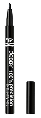 DEBBY 100% Precision Dual Pen Eyeliner 01 Schwarz Make-Up Augen Und Kosmetik