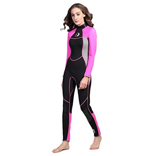 AIni Damen Neoprenanzug,3MM Sunblock Neoprenanzug für Tauchen Surfen Schwimmen Voll B Wetsuit Schwimmen Surfanzug Surfen Tauchen Sport Badeanzug (M,Schwarz)