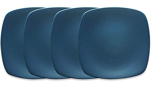 Noritake Colorwave Blue Mini Quad Plates, 6-1/2-Inch , Set of 4 by Noritake