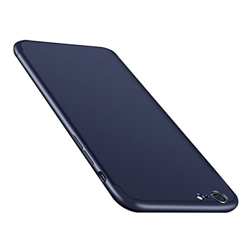 iPhone 8 Coque 3 en 1, Bonice iPhone 7 Coque Détachable 360 Degrés Étui de Protection Full Etui de Protection [Séparable] Ultra Mince Fine [0,3 mm] Slim Léger Matte Coque [3 en 1] Cover Case Anti-Scra A - Bleu