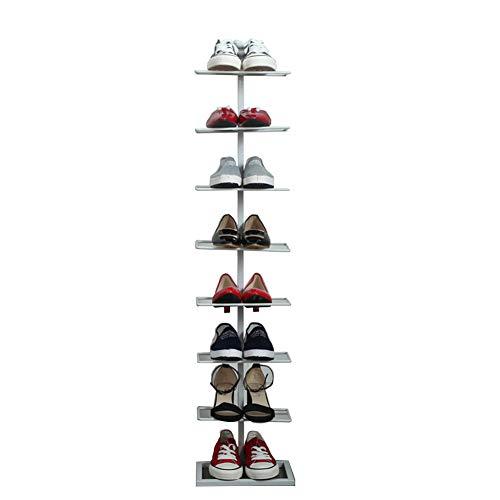 Huit-couche chaussure rack fer forgé simple maison de stockage de chaussures rack économie simple armoire à chaussures,White